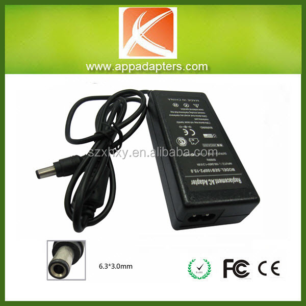 Laptop power adapter 15v 3a 6.3X3.0 for Toshiba 45w power adapter