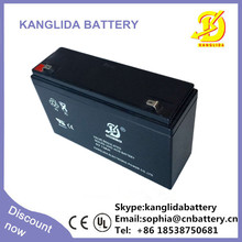 Sealed lead acid battery 6v12ah electric scooter maintenance free rechargeable battery