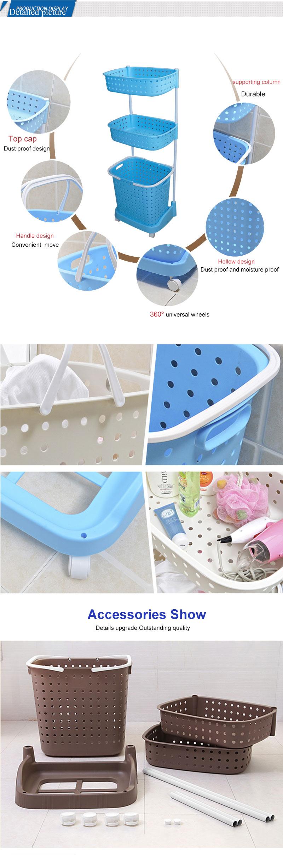 China tamanho Grande new flexível cesto de roupa de plástico com rodas e Alça
