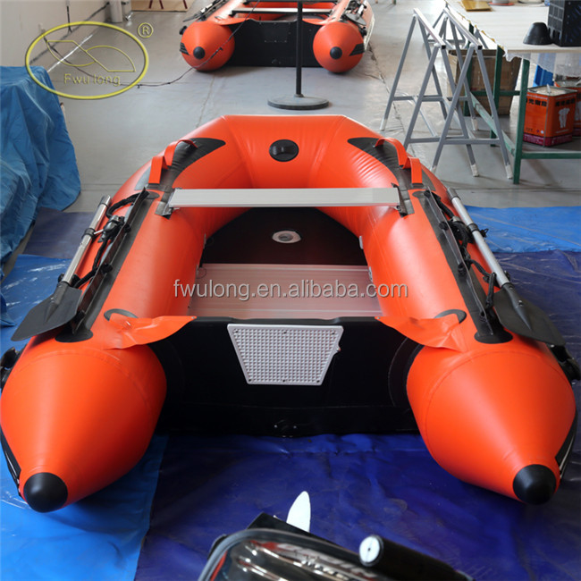 CE approved 0.9mm thickness pvc inflatable fishing boat