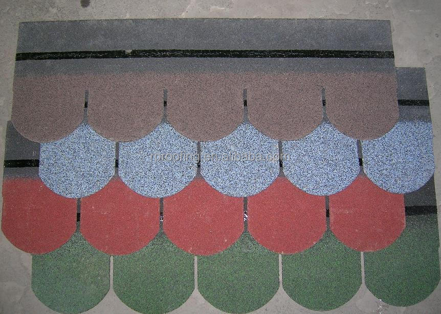 Cheap fish scale asphalt shingle roof tiles in china for Fish scale shingles