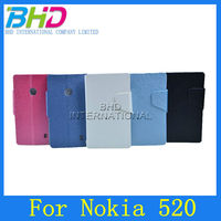 High quality wallet pu leather case for nokia lumia 520