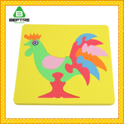 Tangram Puzzle Kids Educational Toys EVA Jigsaw Puzzle Intelligent DIY 3D EVA Puzzle With EN71
