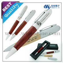 Hot new products for 2015 , Wooden with metal pen drive , stylus pen and ballpoint pen , best writing instruments Christmas gift