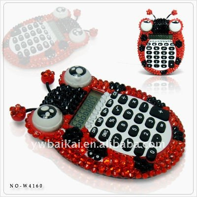 funny electonic scientific calculator with rhinestone for promotion