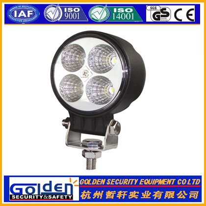 12W LED Work Light Lamp Off Road ATV Jeep Tractor Round emergency light