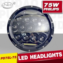 Factory Promotion! Daytime Running Light Round 75w 7inch led headlight, high and low beam for jeep wrangler