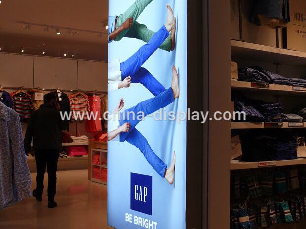 China Manufacturer Aluminum Displays Framed Seg Fabric Signage LED