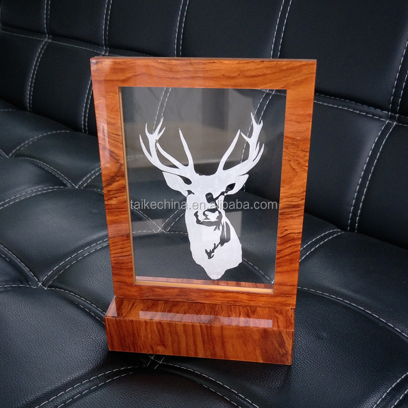 Custom clear A4 acrylic light picture display holder