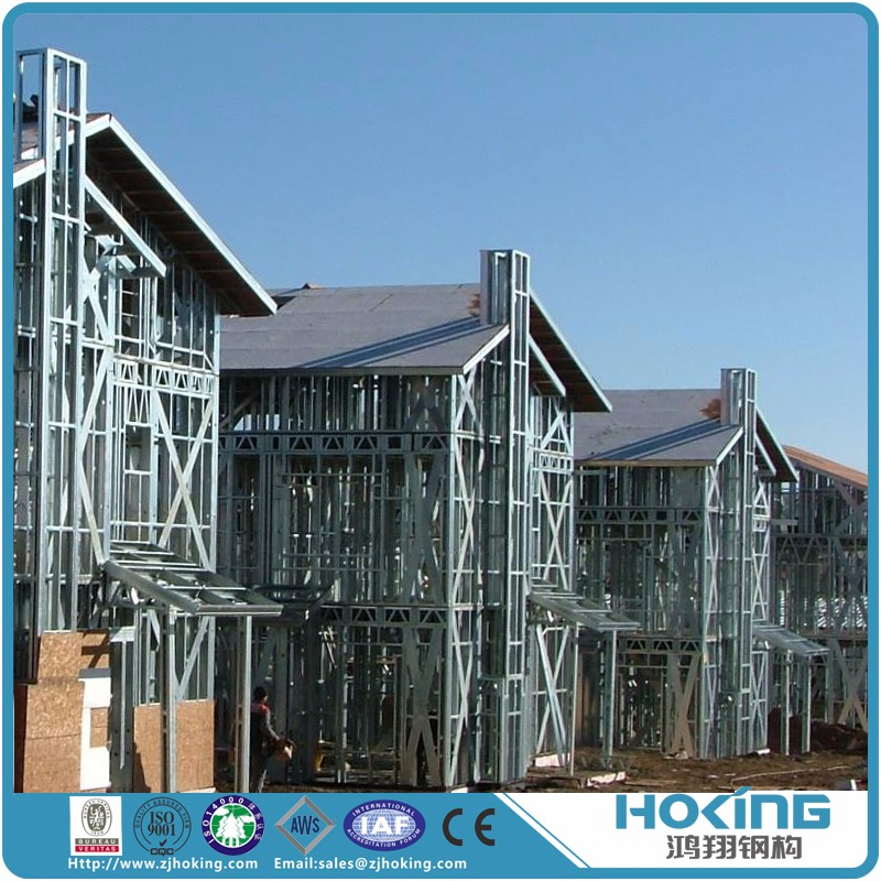 AWS Certificate Prefabricated Comfortable Cheap Light Steel Villa