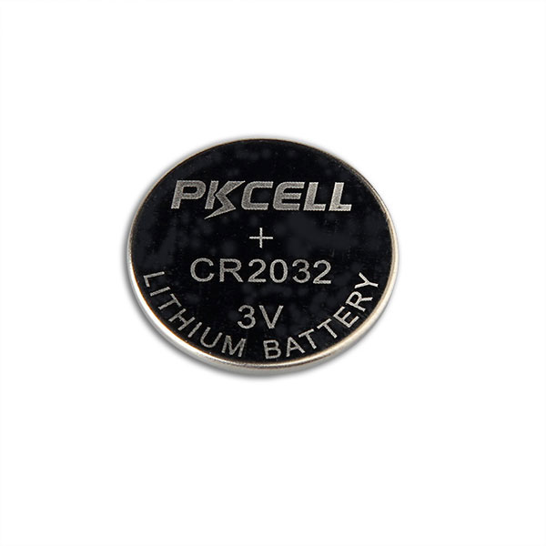 PKCELL High quality 3V CR2032 Lithium button cell coin battery with no tabs