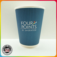 High Quanlity Cheap 12oz Ripple Wall Hot Drinking Paper Cups
