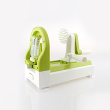 Hot selling hand operated custom color plastic spiral potato slicer