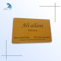 Hard plastic golden edge color business card, high class business card, name card