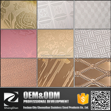 Elevator Decorative 304 316 Color Embossed Stainless Steel Sheet