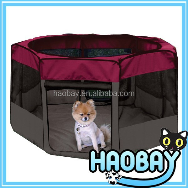 Luxury foldable fabric pet playpen 8 panels