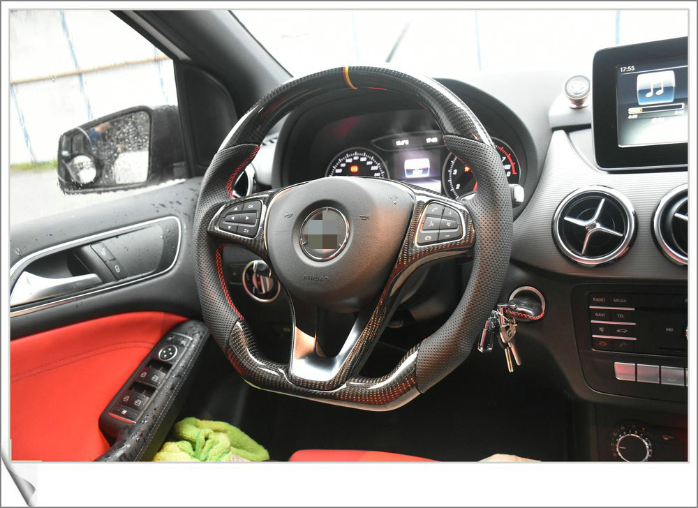 Carbon Fiber racing car steering wheel for VW golf 7