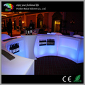 Illiminated straight led mobile cocktail plastic bar counter