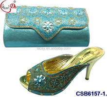 CSB6157 Noble and beautiful ladies fashion shoes shiny shoes, shoes with African wallet