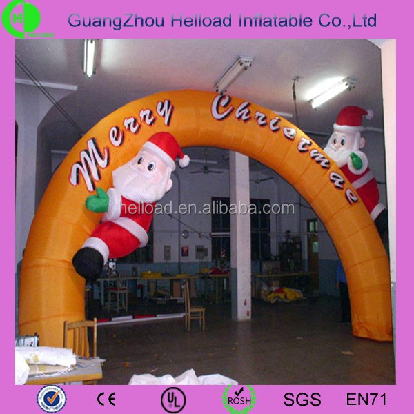 inflatable Christmas decoration Santa arch