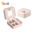 Encai Boutique Jewelry Storage Box Vintage Multi Compartment Jewelry Case With Mirror