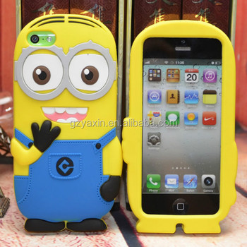 despicable me silicone phone case for iphone 6,hight quality universal mobile phone silicon case for iPhone 6