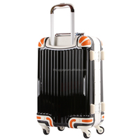 Fashion style large capacity abs luggage trolley suitcase travel luggage bags