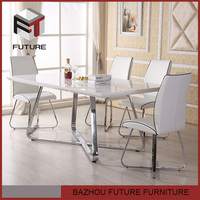 Modern White Dinning Table And Chair Dining Set
