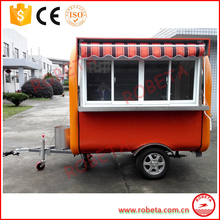 scooter food cart commercial hot dog cart/motor tricycle mobile food cart/bbq food cart for sale