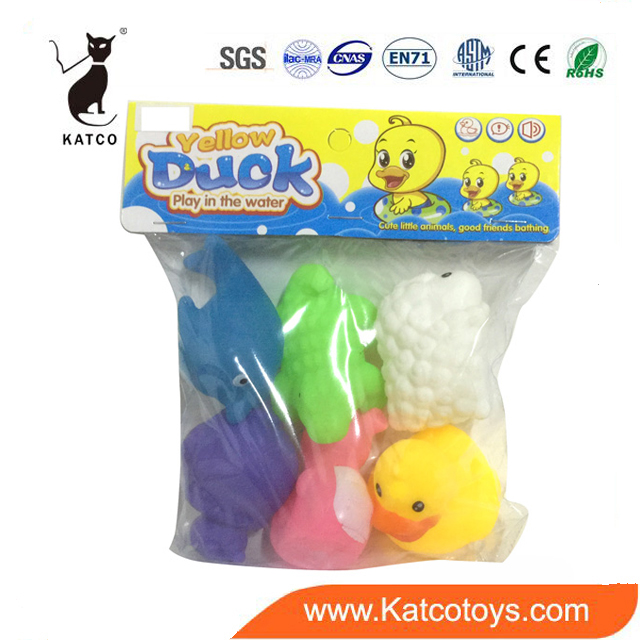 Most Popular Christmas Gift Vinyl Soft Animal Plastic Lovely Bath Toys For Kids