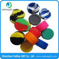 Shiny round inside food grade non stick Heat resistant Storage Silicone Container