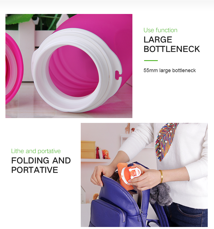 Heat-Resistant Leak Proof Silicone Collapsible Water Bottle