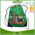 High quality custom waterproof polyester drawstring bag , promotional backpack bag