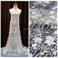 wholesale handwork french net wedding dress hand heavy tulle embroidery bridal beaded lace fabric