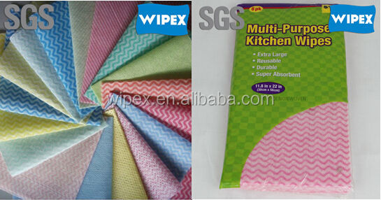 Economical spunlace non woven kitchen rolls polyester/viscose