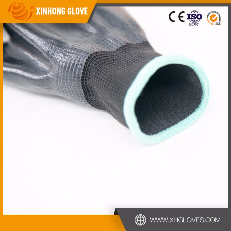 Xinhong oil proof nitrile glove/long sleeve nitrile safe gloves/cut level 5 anti-cut gloves
