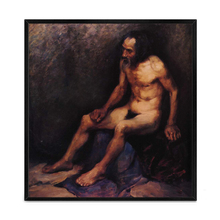 Copy Famou Artist Male Body High Quality Nude Lonely Old Man Oil Painting