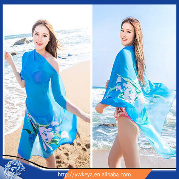 Wholesale fashion 2015 new Lily printed lady women beach wear/Sarong