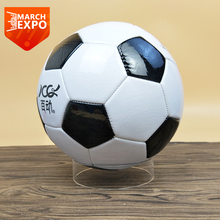 Wholesale clear acrylic basketball display case soccer ball holder