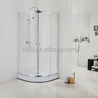 2016 newest 5-8mm tempered glass shower cabins for home using