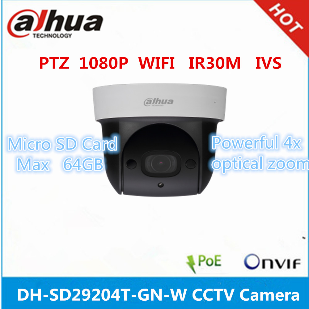 Dahua DH-SD29204T-GN-<strong>W</strong> ip wifi camera support sd card poe built-in MIC PTZ camera