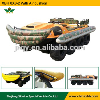 XBH 8X8-2A Jet propelled vehicle Floating water river lake Amphibious ATV Crossing river car