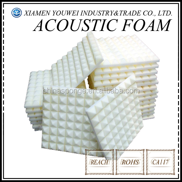 KTV Room and Studio Room White High Density Sound Proof Acoustic Foam