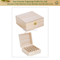 2016 High quality cheap wooden essential oil box, holds 25 oil bottles
