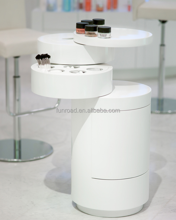 Beauty hall cosmetics display cabinets made by MDF with laminates