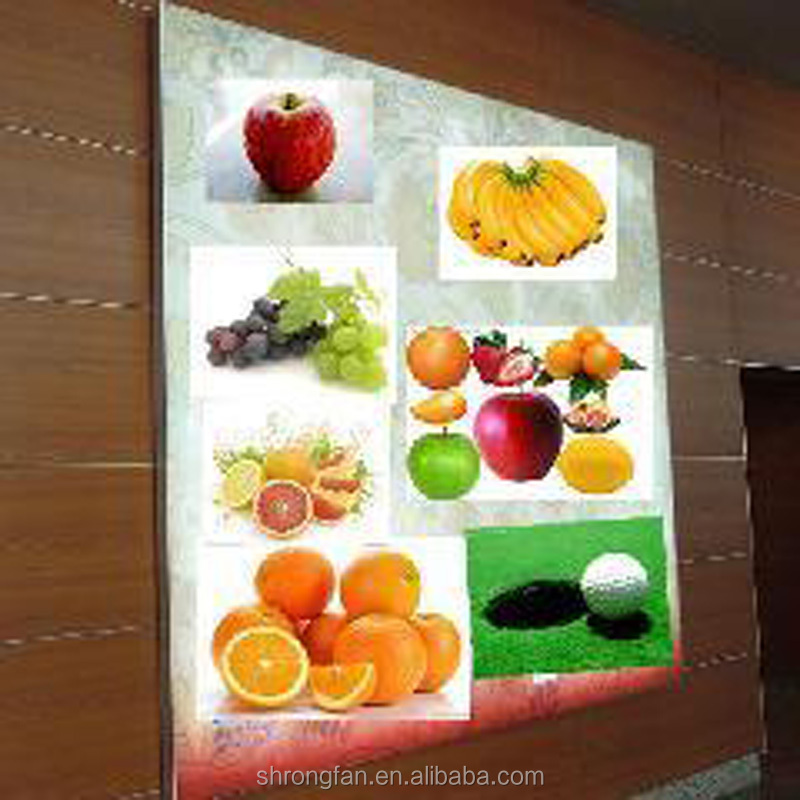 LED Picture Frame Fruits Board Light Box for Wall Advertising Sign