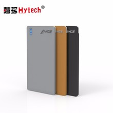 DC177 3000mah universal portable slim power bank with built Micro USB cable for mobile phone