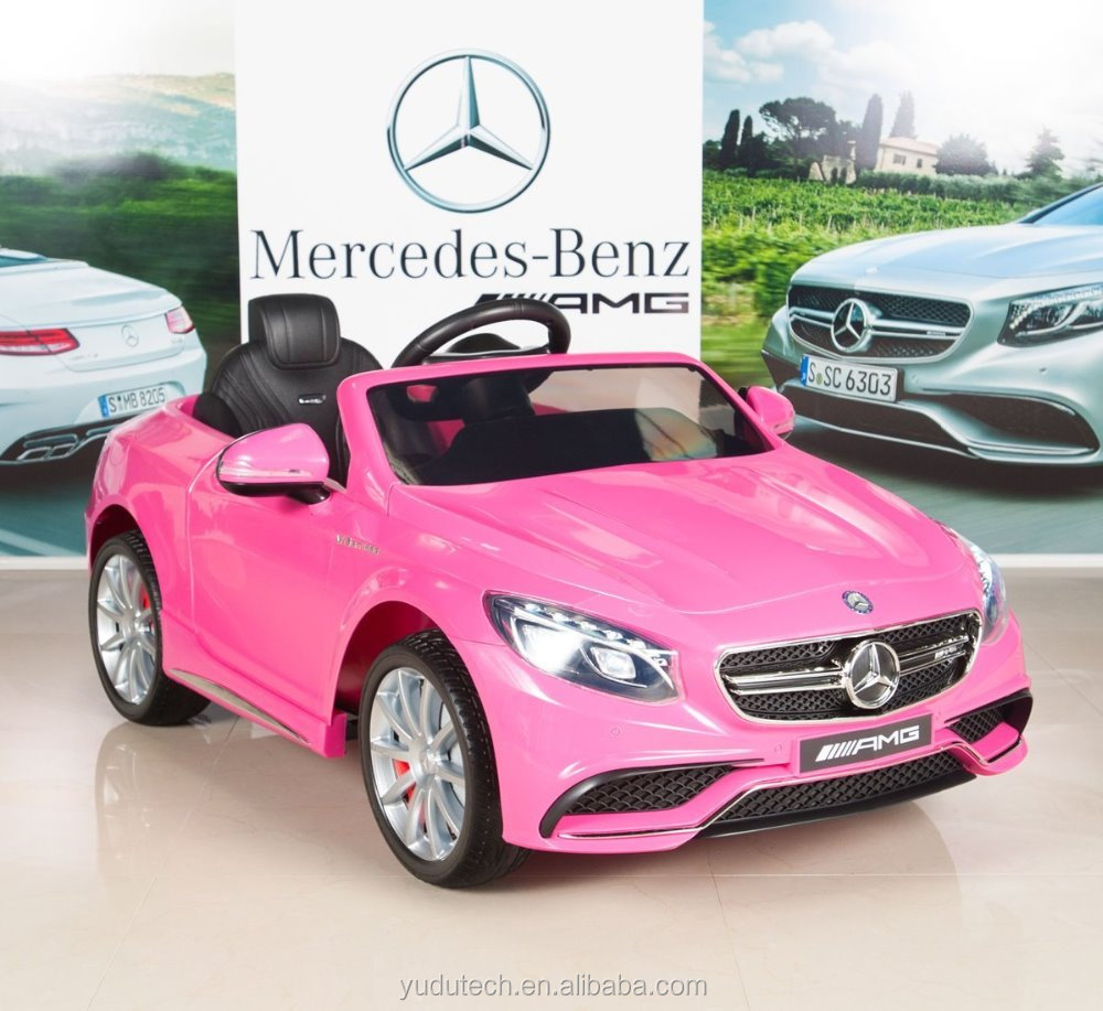 Pink Mercedes-Benz S63 Kids 12V Electric Power Wheel swith RC/Remote Control Radio & MP3 ride on car