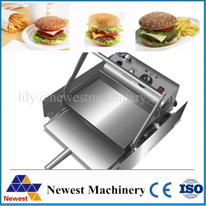 Kitchen equipment price of bakery ovens hamburger forming machine/burger bread baking machine