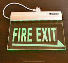 led rechargeable emergency light exit sign with double side with battery